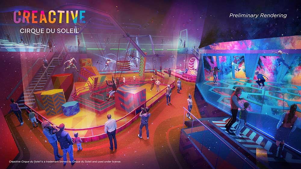 Creactive Cirque du Soleil FEC family entertainment center