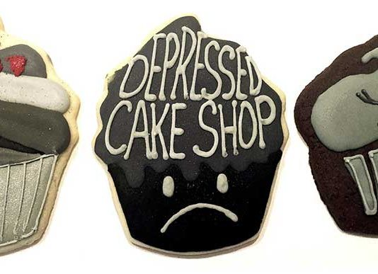 Depressed Cake Shop pop up at Meow Wolf for mentail health