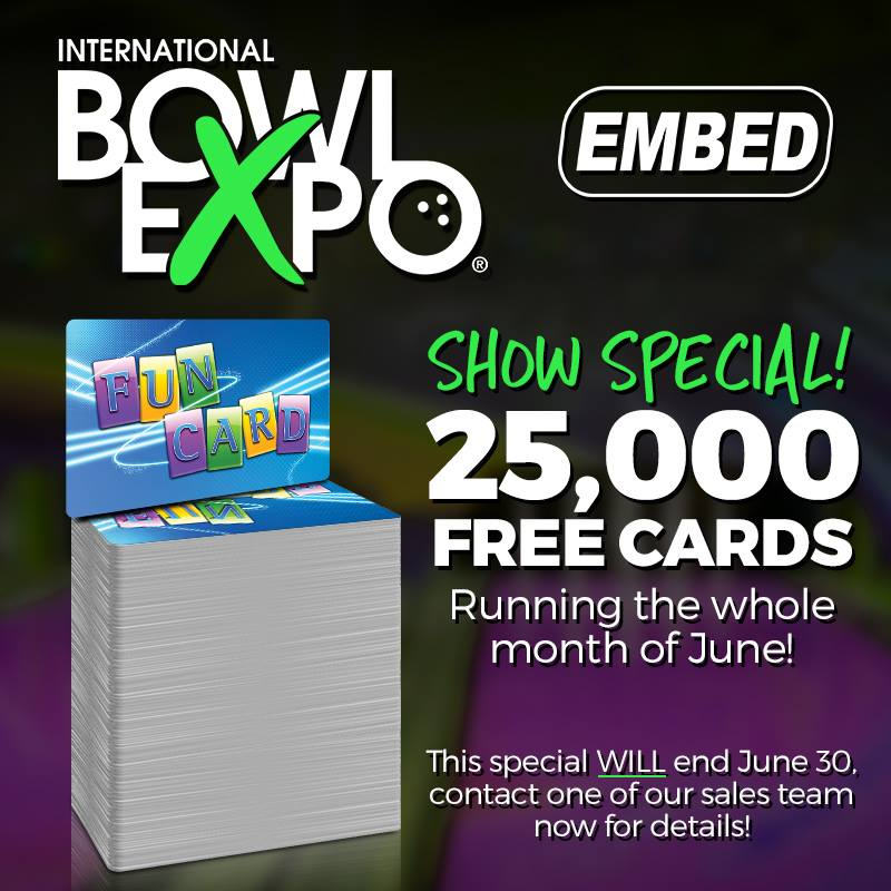 IBE international bowl expo embed promo debit card