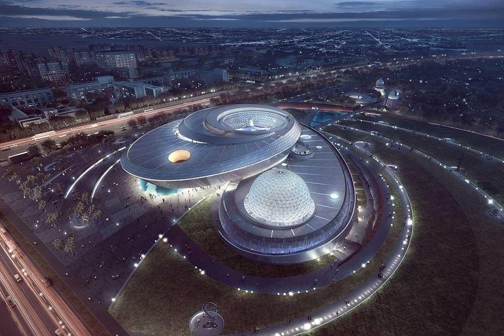 Shanghai Planetarium design by Ennead architects
