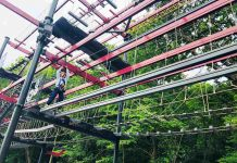 roarr! dinosaur adventure high ropes course innovative leisure