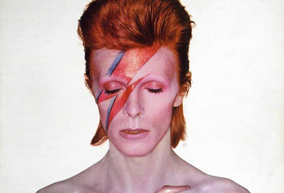 David Bowie V and A museum touring exhibition Aladdin Sane