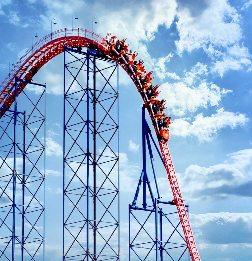 best roller coaster superman the ride at six flags new england