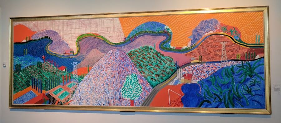 david hockney mullholland drive at lacma x