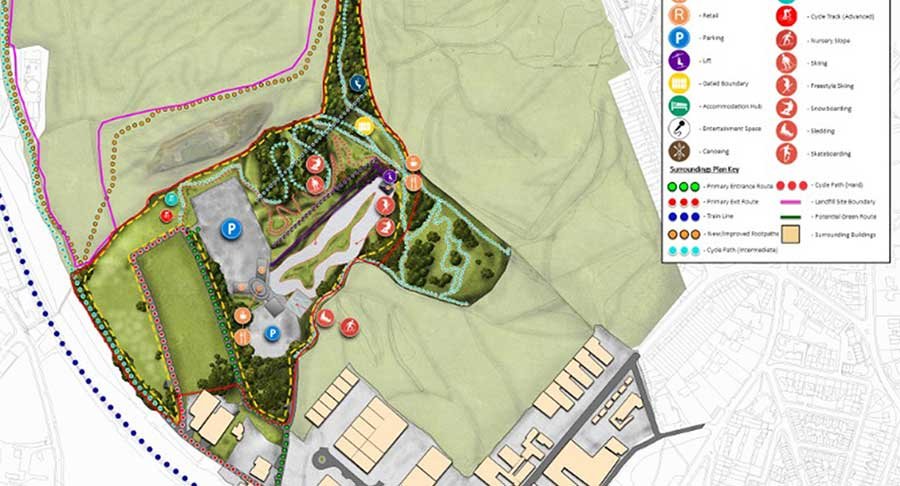 Extreme Ski Village plan Sheffield