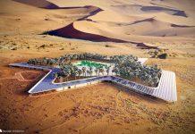 UAE united arab emirates ecotourism building desert baharash