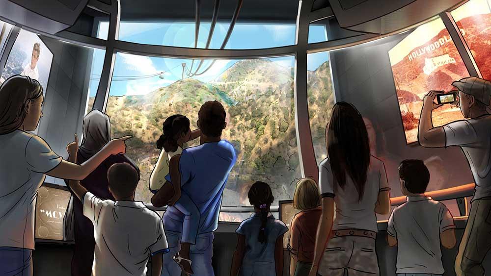 warner bros. propose aerial tramway to LA Hollywood sign