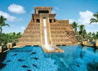 Marine Habitat Mayan temple Atlantis Paradise Island Cloward H2O