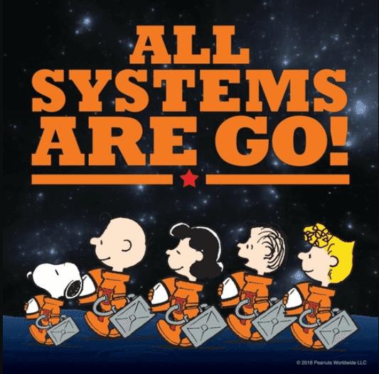snoopy peanuts worldwide nasa space partnership