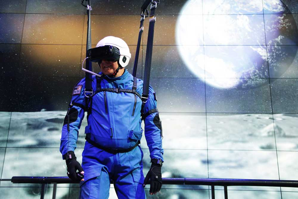 Samsung 4D lunar gravity VR experience NASA