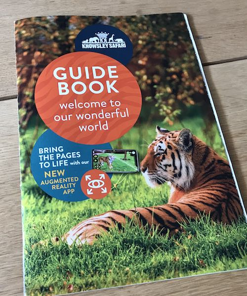 knowsley safari guidebook with AR Safari