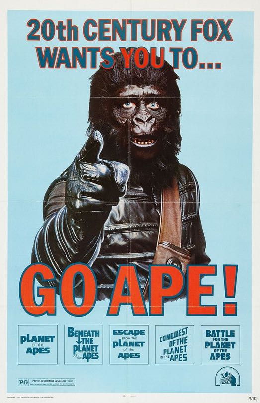 20th century fox wants you to go ape planet of the apes poster x