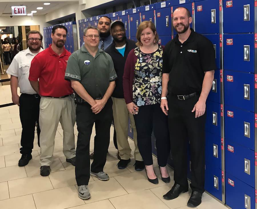 electronic locker system from The Locker Network with Shedd Aquarium Staff