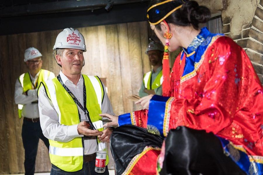 nick varney visits shanghai dungeon merlin entertainments