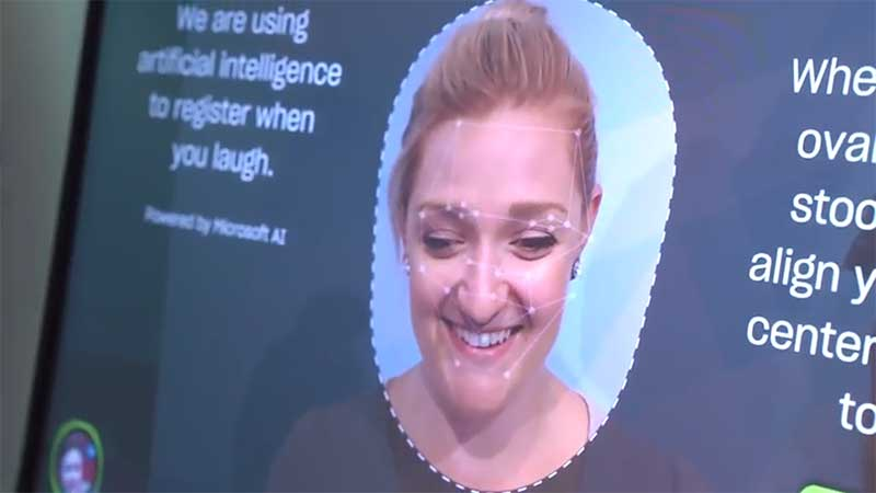 microsoft ai detects if a user is laughing