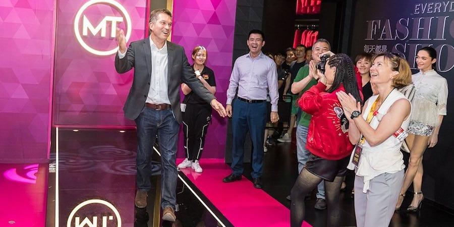 Nick Varney at Madame Tussauds Shanghai's Fashion Zone