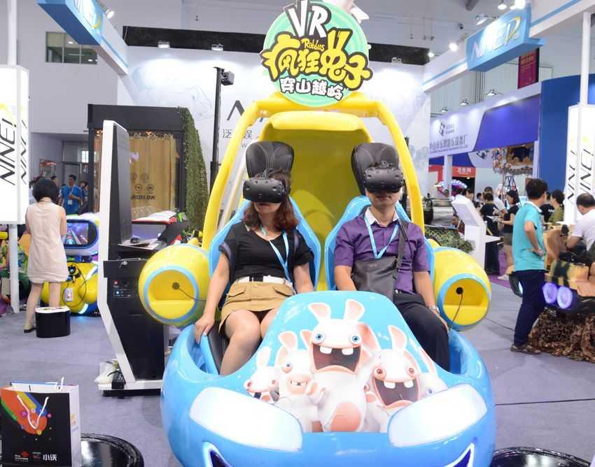 Raving Rabbids VR at Games and Amusement Fair