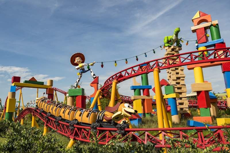 Slinky-Dog-Dash at Hollywood Studios. The park is number 8 on our list of the world's top theme parks of the decade