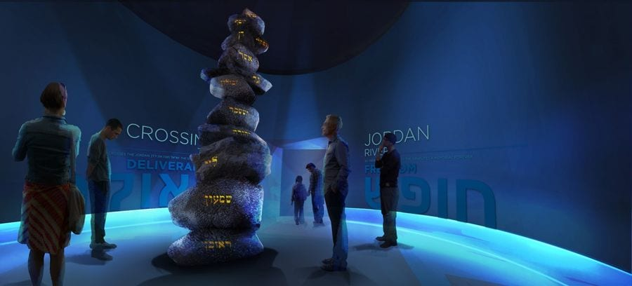 "Visitors in Virtual Reality tour of ""Crossing the Jordan River"""