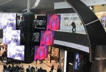 screenflite LED content platform at rome fiumicino airport