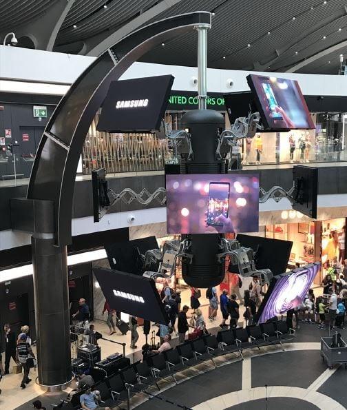 simtec ScreenFLITE at rome airport
