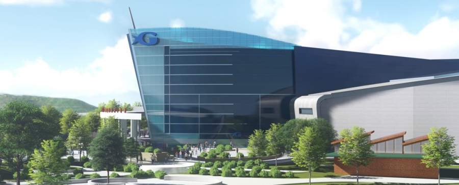 Exterior of Georgia Aquarium showing Expansion 2020