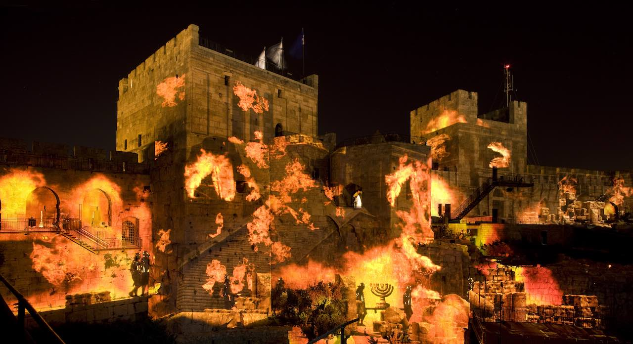 The Night Spectacular Tower of David Museum - The destruction of the 2nd Temple - CREDIT Amit Geron