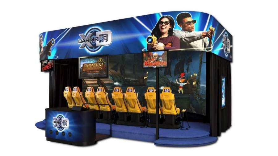 triotech XD dark ride interactive theatre