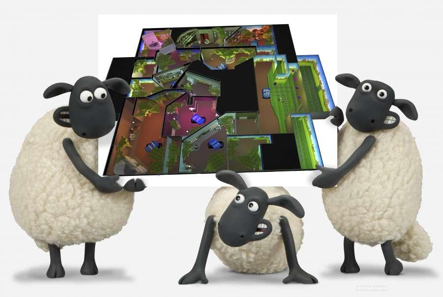 sheep hold up design for shaun the sheep dark ride