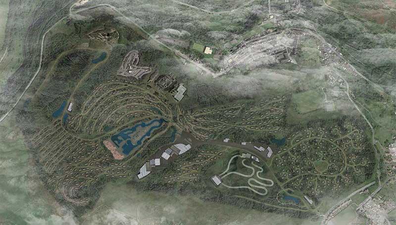 afan valley resort map