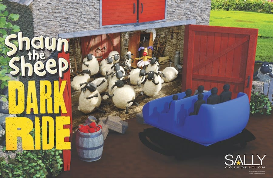Dark ride Shaun the Sheep Aardman Animations Sally Corporation