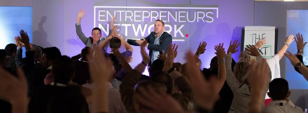 James Sinclair speaking at an Entrepreneurs Network event