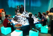 digital magic children play on seeper interactive table for lego discovery centre