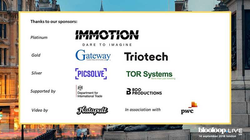 blooloopLIVE sponsors