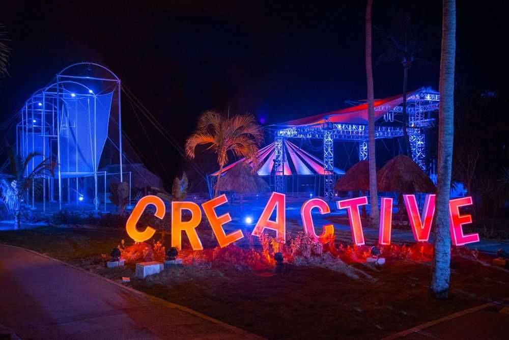 CREACTIVE entrance at Club Med Punta Cana at night