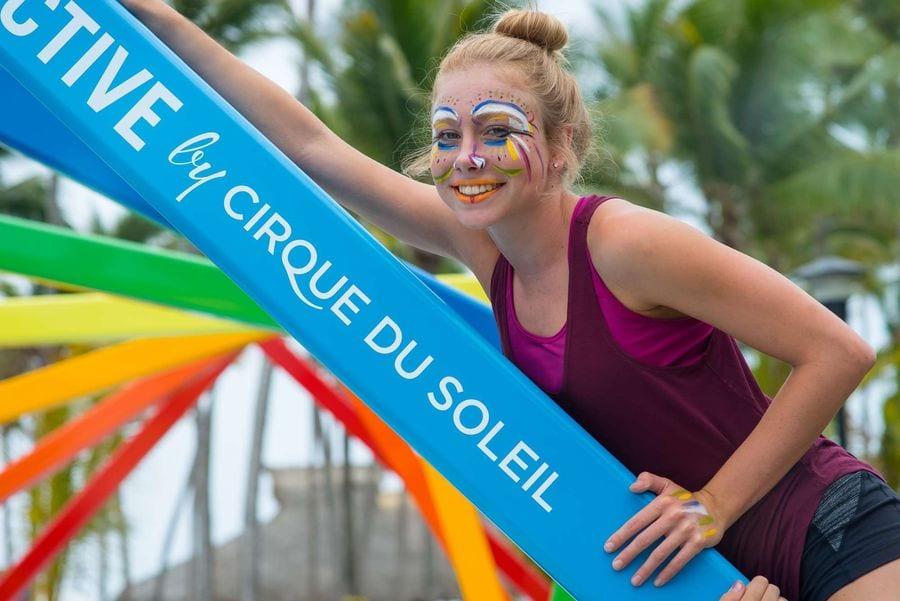 Guest at Cirque du Soleil's CREACTIVE, at Club Med Punta Cana