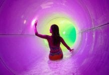 girl on waterslide playing islide game