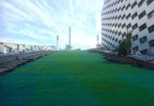 dry ski slope at copenhill, matting supplied by swedice