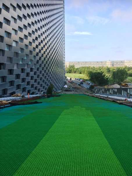 neveplast matting on copenhill ski slope