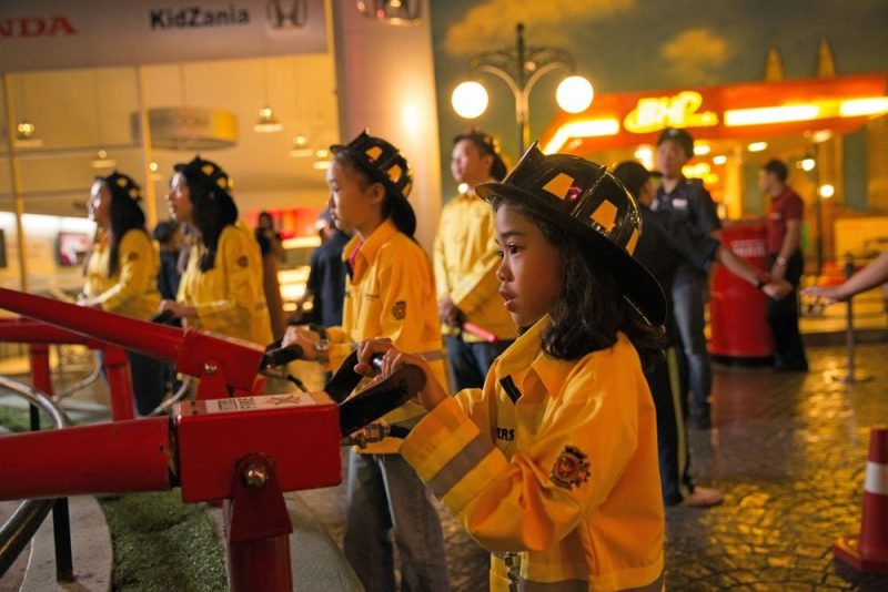 KidZania Firefighters in action