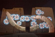 edfu temple projection mapping by christie winner of av magazine award