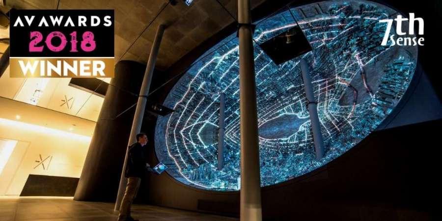 the egg at xi gallery wins av award for 7thSense Design