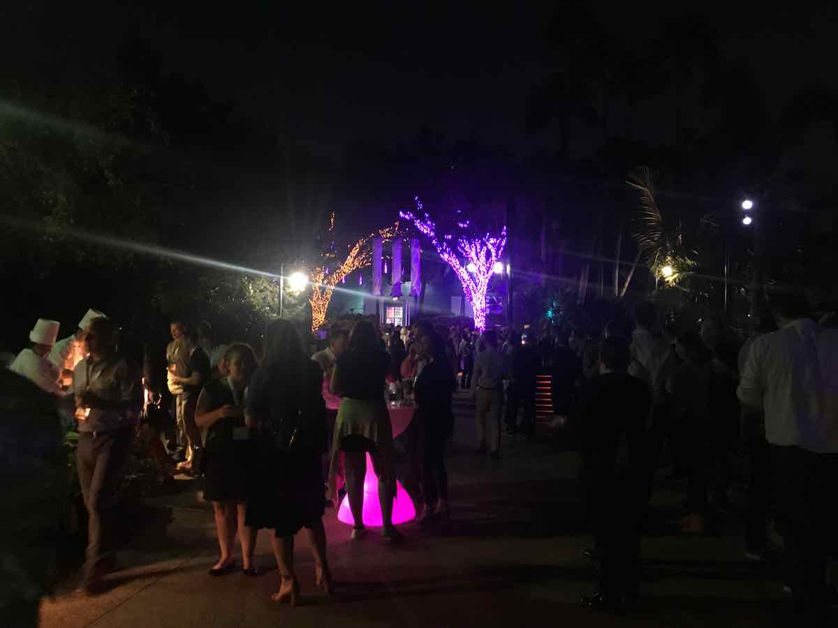 Crowd at SeaWorld party TEA SATE