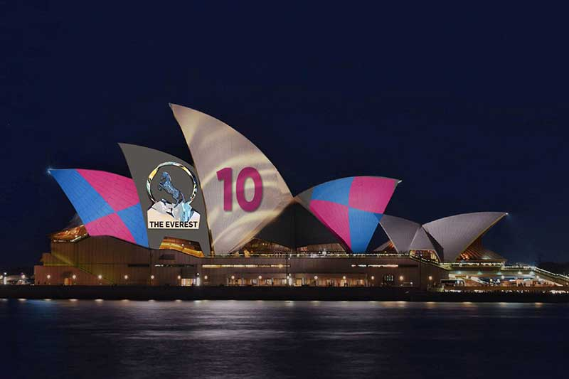 Sydney Opera house projection mapping advertising