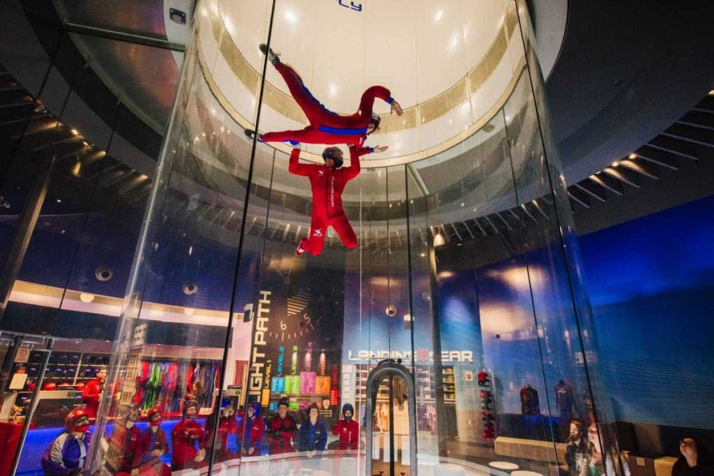 iFly indoor skydive attraction powered by skyventures VR experiences