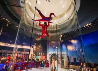 iFly indoor skydive attraction powered by skyventures