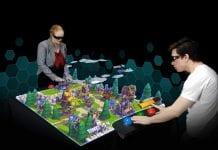 euclideon hologram arcade table, new office bolingbrook illinois