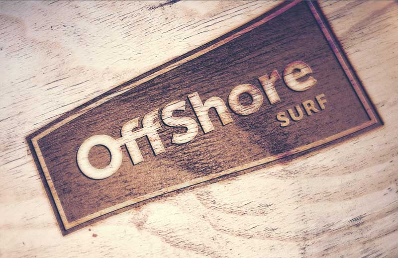 Offshore Surf logo - creating an authentic surfing experience for LBE