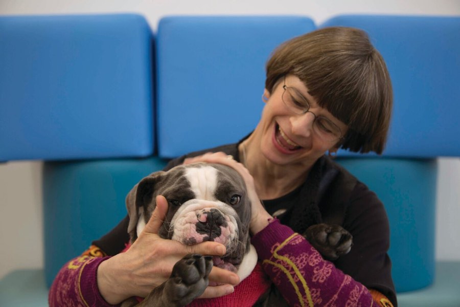 elizabeth merritt with dog future museums.