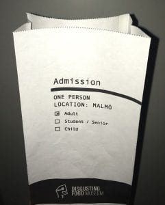 Disgusting Food Museum Admission Ticket